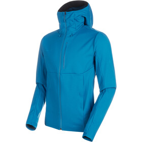 Mammut Ultimate V SO Hooded Jacket Men sapphire-wing teal melange